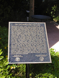 109 Courthouse Square plaque